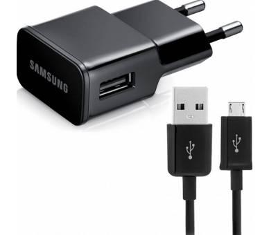 Cargador Samsung ETA-U90EBE Micro USB Cable S6 S7 Edge Note 4 5 J7 J5 2016 Negro Samsung - 1