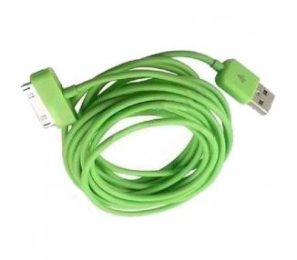 Cable usb carga cargador datos Color Verde para iPhone Ipod Ipad 3 3G 3GS 4 4S ARREGLATELO - 5