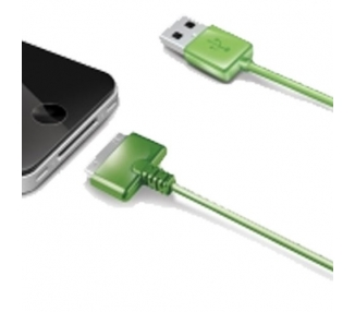 Cable usb carga cargador datos Color Verde para iPhone Ipod Ipad 3 3G 3GS 4 4S
