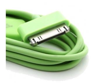 Cable usb carga cargador datos Color Verde para iPhone Ipod Ipad 3 3G 3GS 4 4S ARREGLATELO - 7