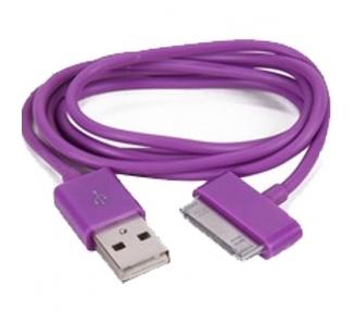 iPhone 4/4S Cable - Purple Color ARREGLATELO - 1