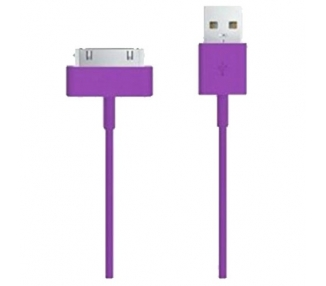 Cable usb carga cargador datos Color Morado para iPhone Ipod Ipad 3 3G 3GS 4 4S