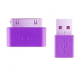 iPhone 4/4S Cable - Purple Color ARREGLATELO - 4