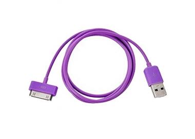 Cable usb carga cargador datos Color Morado para iPhone Ipod Ipad 3 3G 3GS 4 4S ARREGLATELO - 5