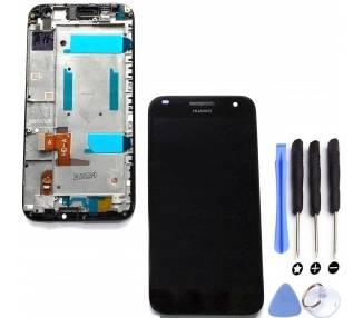 Pantalla Completa con Marco para Huawei Ascend G7 G7-L01 L03 HD-A Negro ARREGLATELO - 1