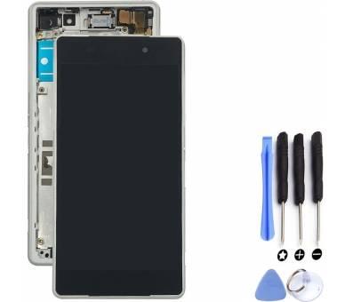Pełny ekran z Ramką dla Sony Xperia Z2 D6503 D6502 L50W Biały Biały ARREGLATELO - 1