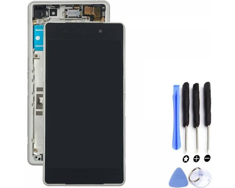 Pełny ekran z Ramką dla Sony Xperia Z2 D6503 D6502 L50W Biały Biały