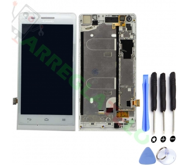 Display For Huawei G6, Color White, With Frame ARREGLATELO - 1