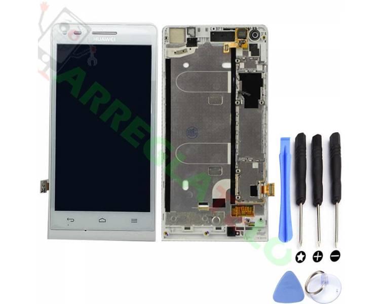Volledig scherm met frame voor Huawei G6 G6-U00 3G Wit Wit FIX IT - 1