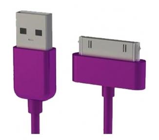 Cable usb carga cargador datos Color Morado para iPhone Ipod Ipad 3 3G 3GS 4 4S ARREGLATELO - 7