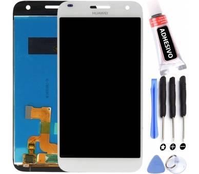 Oryginalny ekran do Huawei Ascend G7 G7-L01 G7-L03 Biały Biały HD-B ARREGLATELO - 1