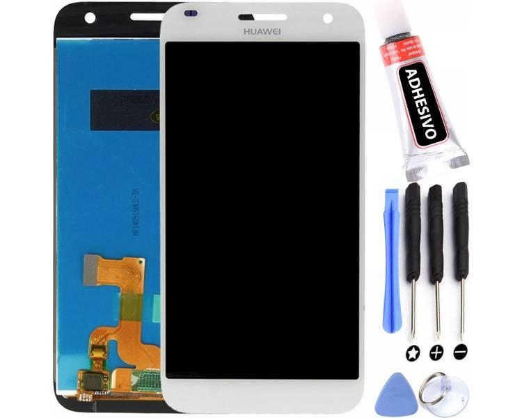 Schermo originale per Huawei Ascend G7 G7-L01 G7-L03 Bianco Bianco HD-B ARREGLATELO - 1