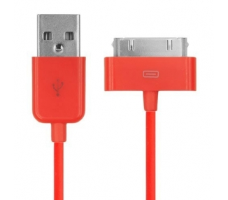 Cable usb carga cargador datos Color Rojo para iPhone Ipod Ipad 3 3G 3GS 4 4S