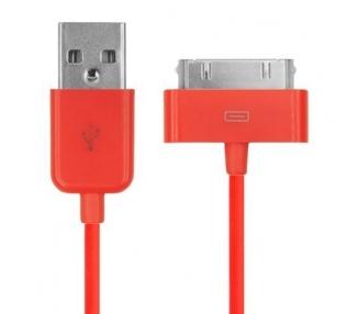 Cable usb carga cargador datos Color Rojo para iPhone Ipod Ipad 3 3G 3GS 4 4S ARREGLATELO - 2
