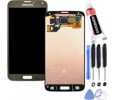 Display For Samsung Galaxy S5, Color Gold, OLED Samsung - 1