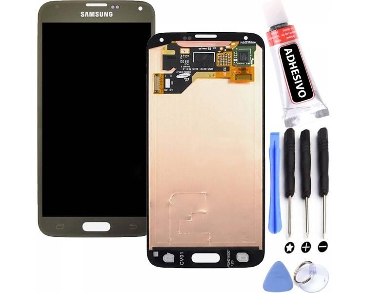 Oryginalny pełny ekran do Samsung Galaxy S5 G900F Gold Gold Samsung - 1