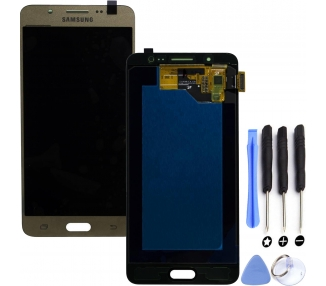 Display For Samsung Galaxy J5 2016, Color Gold, OLED