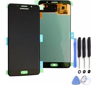 Origineel volledig scherm voor Samsung Galaxy A5 2016 A510F DS Zwart Zwart Samsung - 1