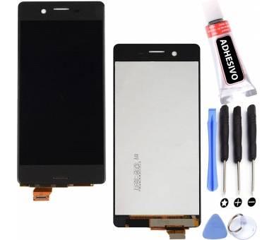 Volledig scherm voor Sony Xperia F F5121 F5122 Zwart Zwart FIX IT - 1
