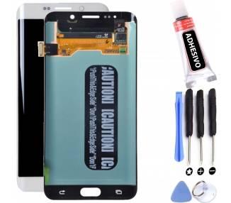 Oryginalny pełny ekran do Samsung Galaxy S6 Edge Plus G928 G928F biały