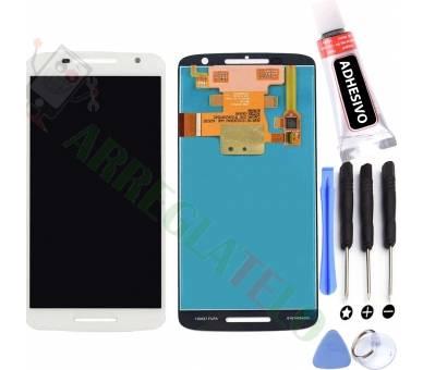 Display For Motorola Moto X Play, Color White ARREGLATELO - 1