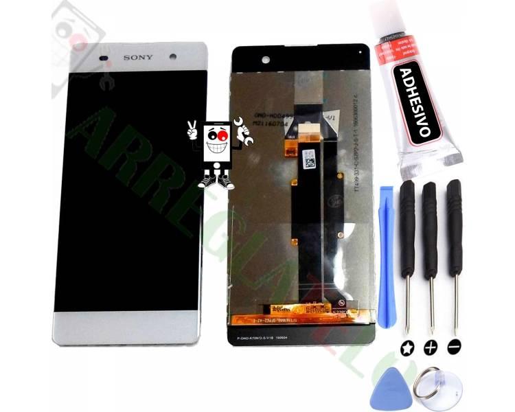 Volledig scherm voor Sony Xperia XA F3111 F3113 F3115 Wit Wit FIX IT - 1