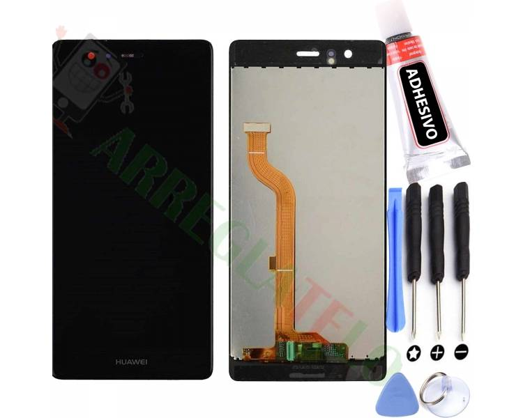 Volledig scherm voor Huawei P9 EVA-L09 EVA-L19 EVA-L29 Zwart Zwart FIX IT - 1