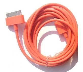 Cable usb carga cargador datos Color Naranja para iPhone Ipod Ipad 3 3G 3GS 4 4S ARREGLATELO - 1