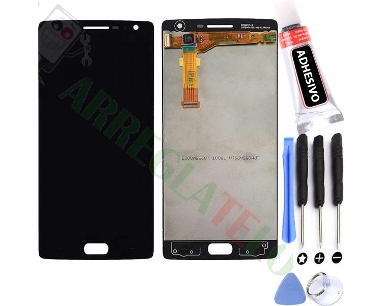 Volledig scherm voor OnePlus Two 2 Zwart Zwart FIX IT - 1