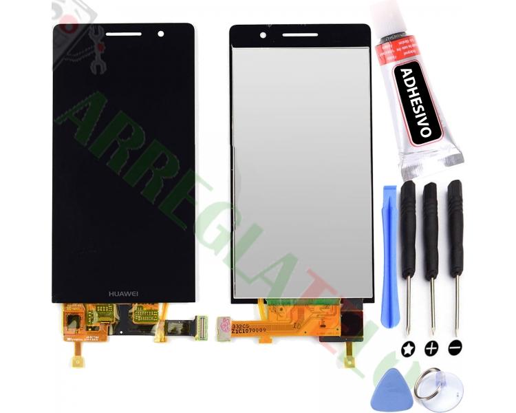 Volledig scherm voor Huawei Ascend P6 P6-U06 Zwart Zwart FIX IT - 1