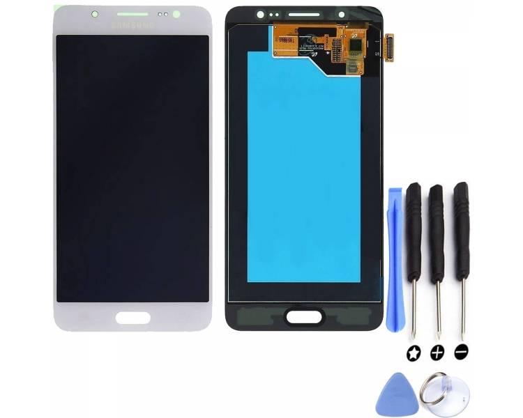Oryginalny pełny ekran do Samsung Galaxy J5 2016 J510F J510 J510FN biały