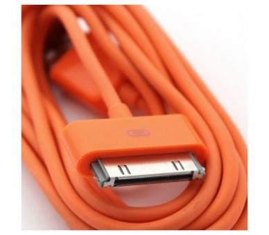 iPhone 4 / 4S-kabel - oranje kleur ARREGLATELO - 2