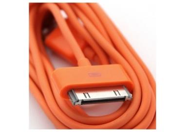 Cable usb carga cargador datos Color Naranja para iPhone Ipod Ipad 3 3G 3GS 4 4S ARREGLATELO - 2