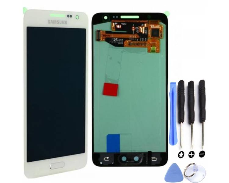 Display For Samsung Galaxy A3 2015, Color White, OLED Samsung - 1