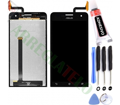 Display For Asus Zenfone 5, Color Black ARREGLATELO - 1