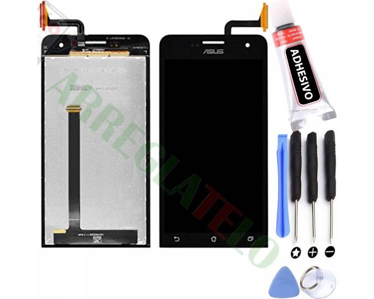 Pełny ekran dla Asus Zenfone 5 A500CG A501CG Czarny Czarny ARREGLATELO - 1