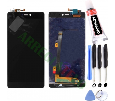 Volledig scherm voor Xiaomi Mi4i Black Black FIX IT - 1
