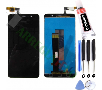 Vollbild für Xiaomi Redmi Note 3 Black Black ARREGLATELO - 1