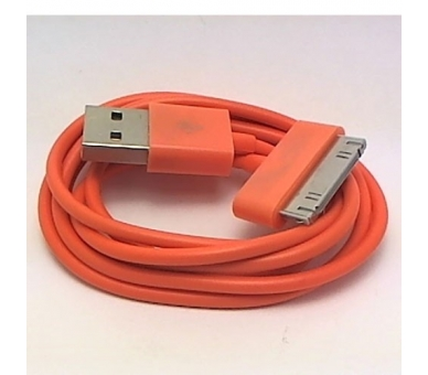 iPhone 4 / 4S-kabel - oranje kleur ARREGLATELO - 3