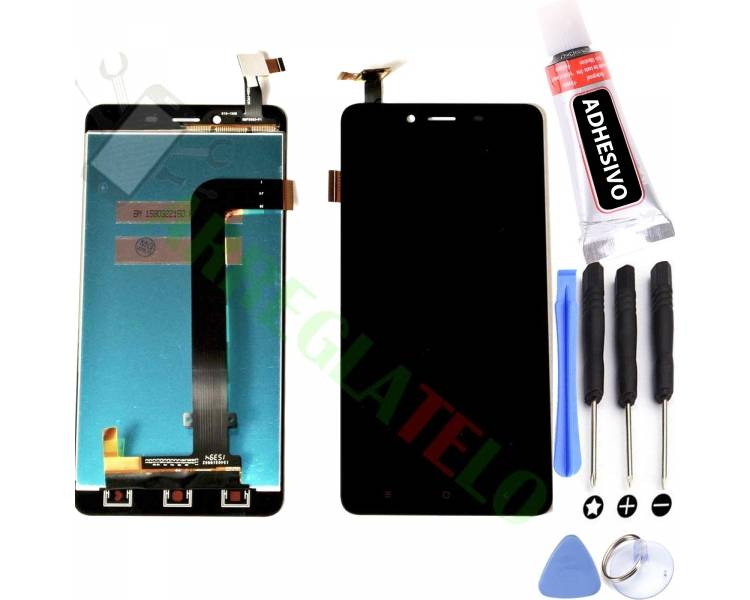 Pantalla Completa para Xiaomi Redmi Note 2 Negro Negra ARREGLATELO - 1