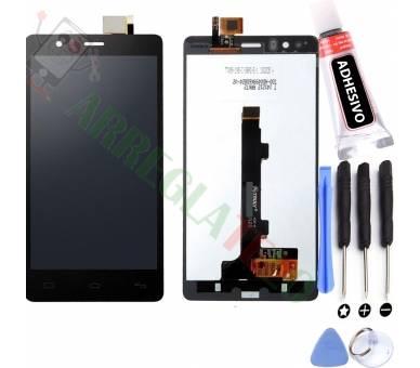 Compleet scherm voor BQ E5 HD E5HD TFT5K0982FPC-A2-E Zwart Zwart FIX IT - 1