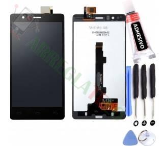 Pełny ekran dla BQ E5 HD E5HD TFT5K0982FPC-A2-E Czarny Czarny