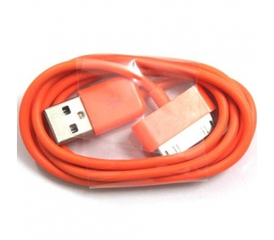 Cable usb carga cargador datos Color Naranja para iPhone Ipod Ipad 3 3G 3GS 4 4S - 4
