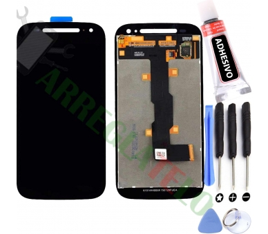 Pełny ekran dla Motorola Moto E2 XT1524 XT1527 Czarny Czarny ARREGLATELO - 1