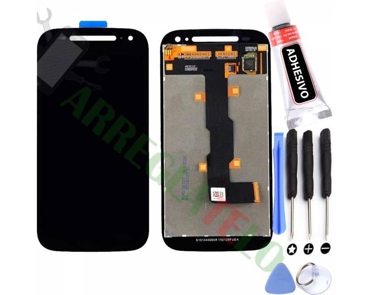 Volledig scherm voor Motorola Moto E2 XT1524 XT1527 Zwart Zwart FIX IT - 1