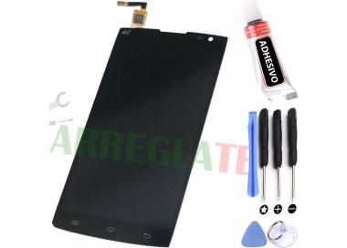 Pantalla Completa para Alcatel One Touch M812F Orange Nura Negro Negra ARREGLATELO - 1