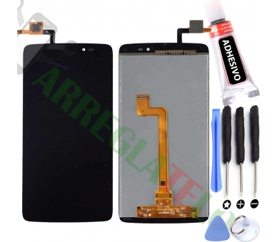 Display For Alcatel One Touch Idol 3, Color Black ARREGLATELO - 1