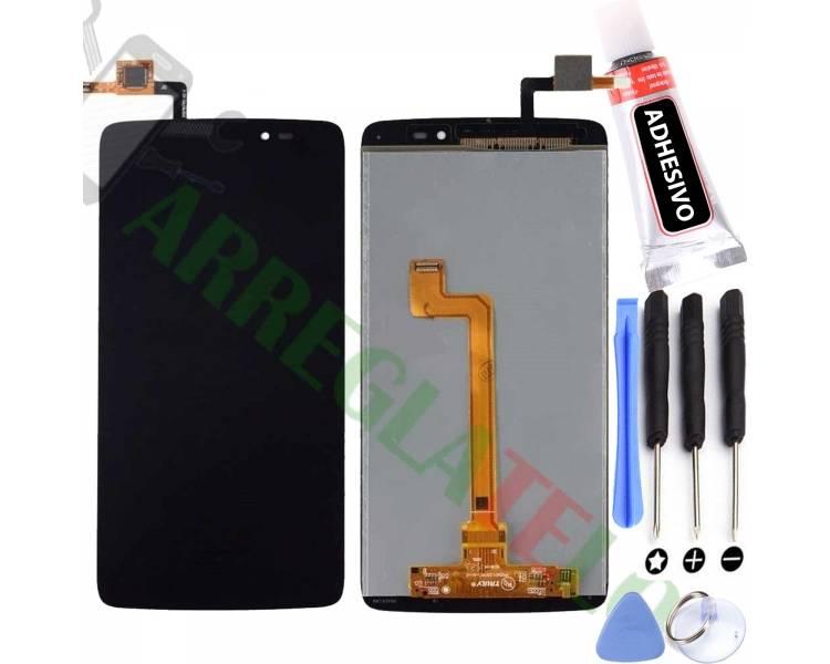 Pełny ekran dla Alcatel One Touch Idol 3 OT6045 OT 6045 Czarny Czarny