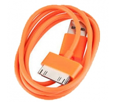 Cable usb carga cargador datos Color Naranja para iPhone Ipod Ipad 3 3G 3GS 4 4S - 5