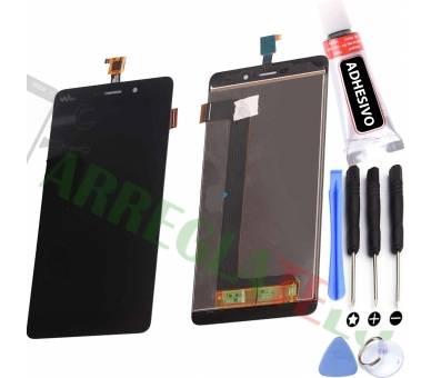 Oryginalny pełny ekran do Wiko Pulp Fab 4G M951 Black Black Wiko - 1